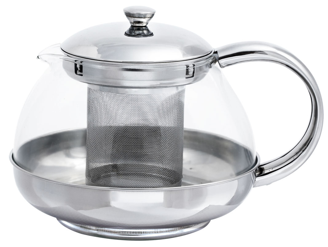 """Стеклянный заварочный чайник """"Bohmann"""" с элементами из нержавеющей стали - дает возможность заварить насыщенный ароматный чай. Легкий и быстрый способ насладиться чашечкой горячего напитка. Фильтр и крышка из хромоникелевой стали. Жаропрочное стекло. Можно мыть в посудомоечной машине. Объем: 1 л."""