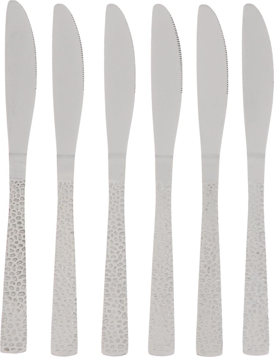 Набор столовых ножей Empire of Dishes Дэмиль, 6 штIM99-0319Набор столовых ножей Empire of Dishes Дэмиль выполнен из высококачественной нержавеющей стали в классическом стиле. Поверхность - гладкая. Лезвие - зубчатое. Столовые ножи Empire of Dishes Дэмиль прекрасно подходят для сервировки стола как в домашнем быту, так и в профессиональных заведениях - кафе, ресторанах.Не рекомендуется мыть в посудомоечной машине и использовать в микроволновой печи.Длина ножа: 22 см. Длина лезвия: 10 см.
