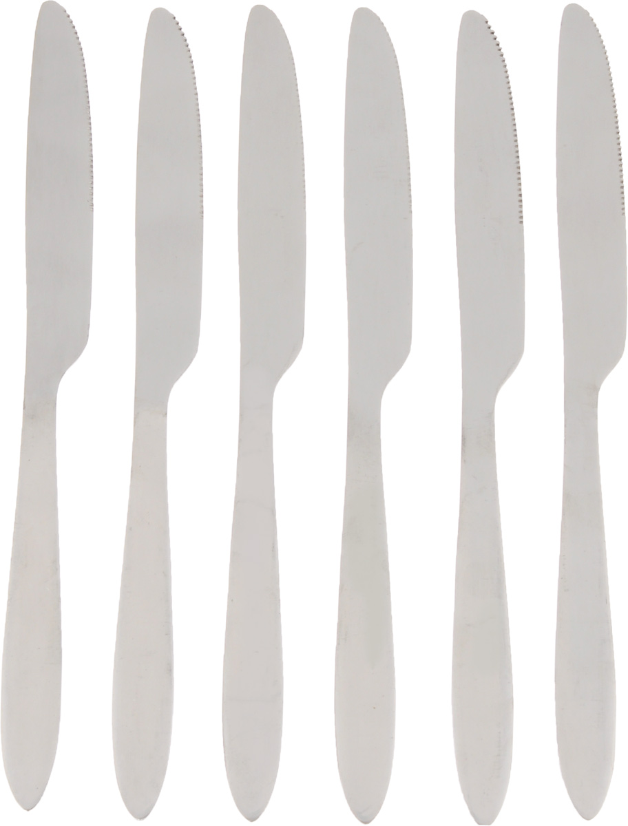 Набор столовых ножей Empire of Dishes Классик, 6 штIM99-0339Набор столовых ножей Empire of Dishes Классик выполнениз высококачественной нержавеющейстали в классическом стиле. Поверхность - гладкая. Лезвие -зубчатое. Столовые ножи Empire of Dishes Классик прекрасноподходят для сервировки стола, как вдомашнем быту, так и в профессиональныхзаведениях - кафе, ресторанах.Не рекомендуется мыть в посудомоечной машине ииспользовать в микроволновой печи.Длина ножа: 22,2 см. Длина лезвия: 10 см.