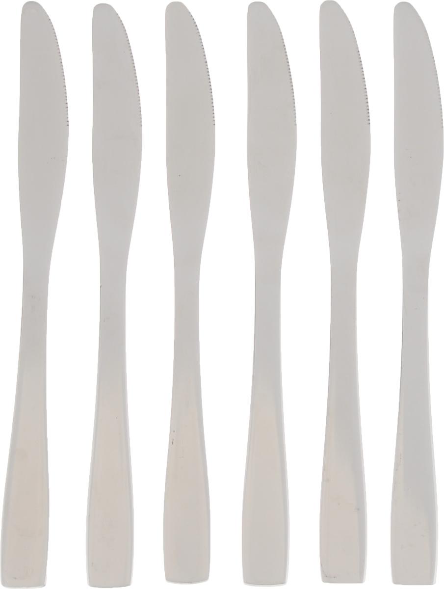 Набор столовых ножей Empire of Dishes Стайл, 6 штIM99-0344Набор столовых ножей Empire of Dishes Стайл выполнениз высококачественной нержавеющейстали в классическом стиле. Поверхность - гладкая изеркальная. Лезвие -зубчатое. Столовые ножи Empire of Dishes Стайл прекрасноподходят для сервировки стола, как вдомашнем быту, так и в профессиональныхзаведениях - кафе, ресторанах.Не рекомендуется мыть в посудомоечной машине ииспользовать в микроволновой печи.Длина ножа: 22,5 см. Длина лезвия: 9 см.