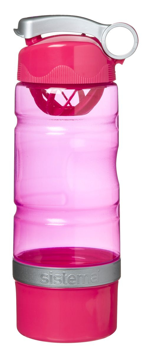 Бутылка для воды Sistema, спортивная, цвет: малиновый, 615 мл535_малиновыйБутылка для воды Sistema изготовлена из прочного пищевого пластика без содержания фенола и других вредных примесей. Бутылка оснащена специальной крышкой, которая предотвращает проливание жидкости и позволяет удобно пить напитки. С такой бутылкой вы сможете где угодно насладиться вашими любимыми напитками. Специальное кольцо позволяет присоединить ее на рюкзак.Как повысить эффективность тренировок с помощью спортивного питания? Статья OZON Гид