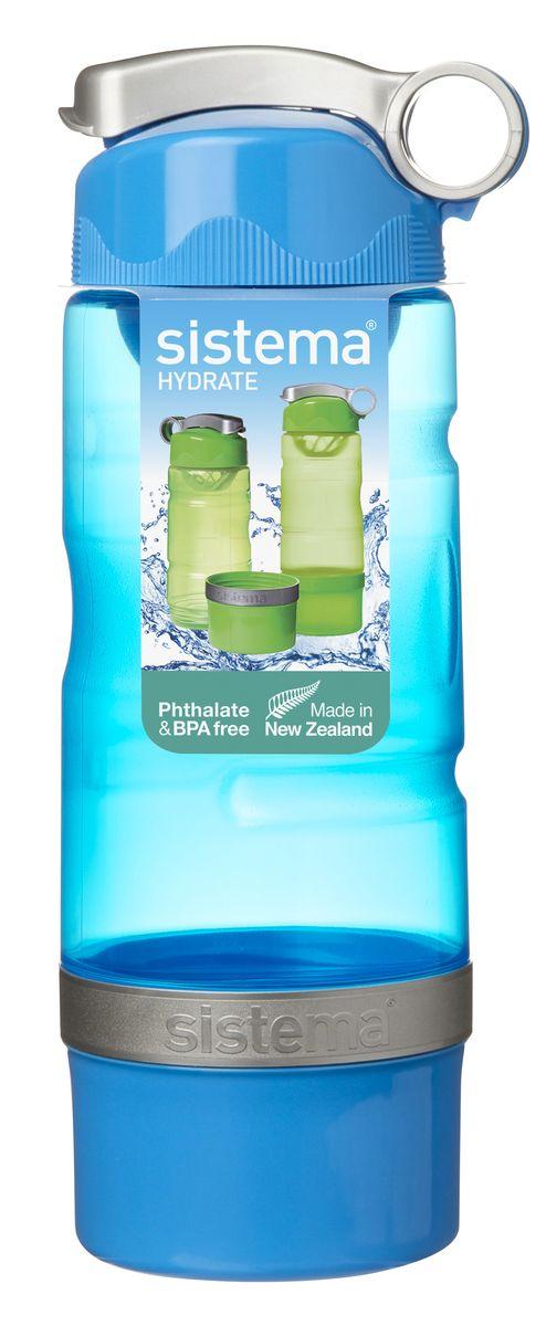 """Бутылка для воды """"Sistema"""" изготовлена из прочного пищевого пластика без содержания фенола и других вредных примесей. Бутылка оснащена   специальной крышкой, которая предотвращает проливание жидкости и позволяет удобно пить напитки. С такой бутылкой вы сможете где угодно   насладиться вашими любимыми напитками. Специальное кольцо позволяет присоединить ее на рюкзак.      Как повысить эффективность тренировок с помощью спортивного питания? Статья OZON Гид"""
