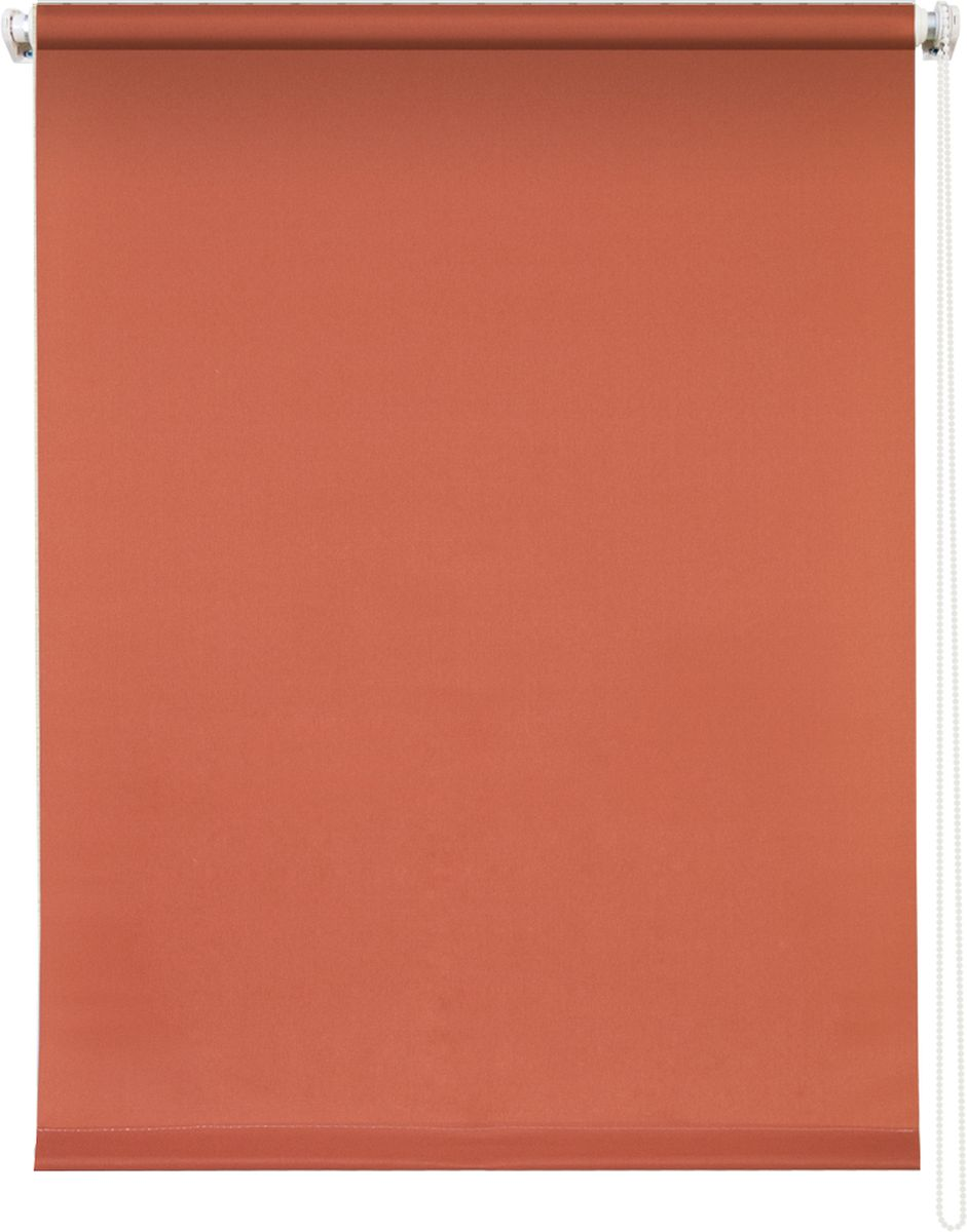 Штора рулонная Уют Плайн, цвет: терракот, 140 х 175 см62.РШТО.7519.140х175Штора рулонная Уют Плайн выполнена из прочного полиэстера с обработкой специальным составом, отталкивающим пыль. Ткань не выцветает, обладает отличной цветоустойчивостью и светонепроницаемостью.Штора закрывает не весь оконный проем, а непосредственно само стекло и может фиксироваться в любом положении. Она быстро убирается и надежно защищает от посторонних взглядов. Компактность помогает сэкономить пространство. Универсальная конструкция позволяет крепить штору на раму без сверления, также можно монтировать на стену, потолок, створки, в проем, ниши, на деревянные или пластиковые рамы. В комплект входят регулируемые установочные кронштейны и набор для боковой фиксации шторы. Возможна установка с управлением цепочкой как справа, так и слева. Изделие при желании можно самостоятельно уменьшить. Такая штора станет прекрасным элементом декора окна и гармонично впишется в интерьер любого помещения.