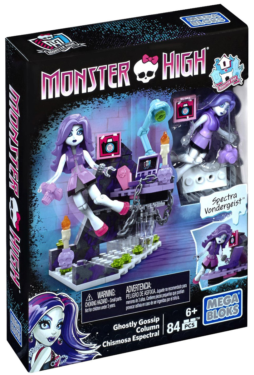 Mega Bloks Конструктор Monster High Колонка призрачных сплетен monster high мотор побег с острова черепов 2 в 1