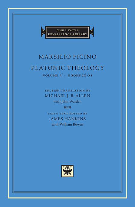 Platonic Theology Volume 3 Books IX–XI (S)