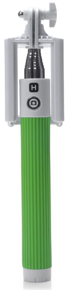 Harper RSB-105, Green моноподH00000530Harper RSB-105 - телескопический моноподдля проведения фото и видеосъемки с максимальной нагрузкой 500 грамм. Поддержка беспроводного соединения Bluetooth позволяет осуществлять съемку без использования кабеля. Данная модель имеет встроенный аккумулятор на 60 мАч, что обеспечивает до 100 часов автономной работы.Как выбрать селфи-палку. Статья OZON Гид