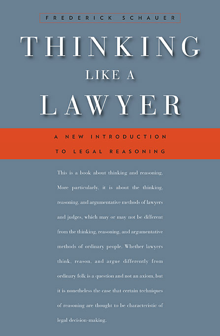 Thinking Like a Lawyer – A New Introduction to Legal Reasoning (OISC)