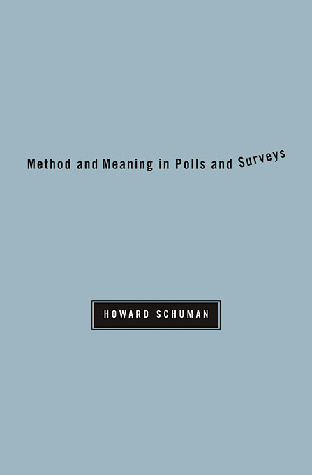 Method and Meaning in Polls and Surveys word meaning and legal interpretation