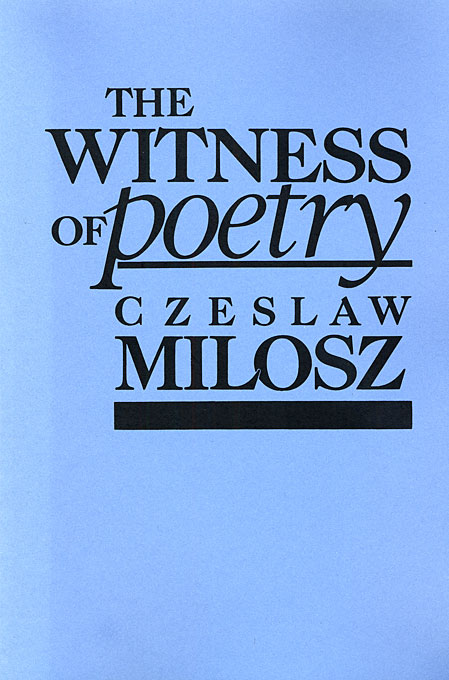 The Witness of Poetry (Paper)