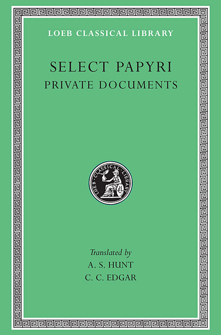 Non–Literary Papyri – Private Documents L266 V 1 (Trans. Hunt)(Greek) xeltek private seat tqfp64 ta050 b006 burning test