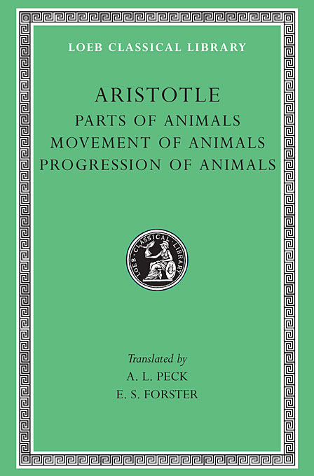 Parts of Animals – Movement of Animals & Progression of Animals L323 V12 (Trans. Peck) (Greek) 199 animals