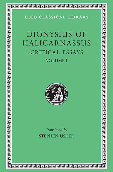 Critical Essays Ancientorators,Lysias,Etc L465 V 1  (Trans. Usher) (Greek)