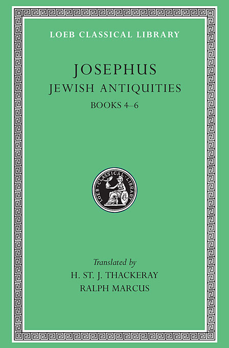 Josephus V 6 Jewish Antiquities Books IV–VI L490 (see also L242/281/326/365/489/410/433/456) (Trans. Thackeray)(Greek) mircea ion cirnu algebraic equations