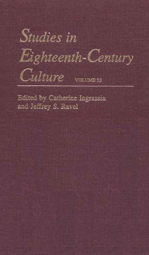 Studies in Eighteenth–Century Culture V39 cultural types and spaces in eighteenth century english narratives