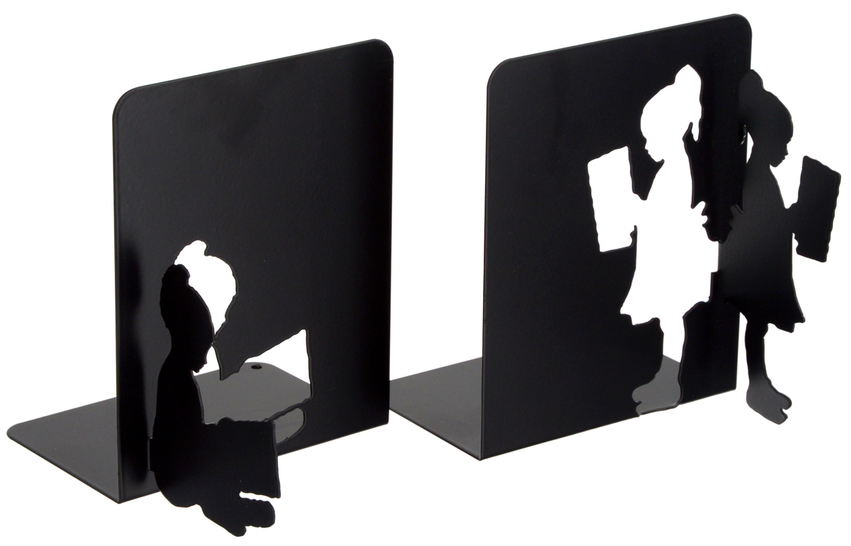 Подставка-ограничитель декоративная для книг Феникс-Презент В библиотеке, 2 шт40648Декоративная подставка-ограничитель для книг Феникс-Презент В библиотеке, изготовленная из металла, состоит из двух частей, с помощью которых можно подпирать книги с двух сторон. Изделия оформлены декоративными фигурками в виде читающих детей и снабжены противоскользящими подложками из этиленвинилацетата. Между ограничителями можно поместить неограниченное количество книг. Подставка-ограничитель для книг Феникс-Презент В библиотеке - это не только подставка, но и интересный элемент декора, который ярко дополнит интерьер помещения. Размер подставок-ограничителей: 15 х 12 х 15 см.Комплектация: 2 шт.
