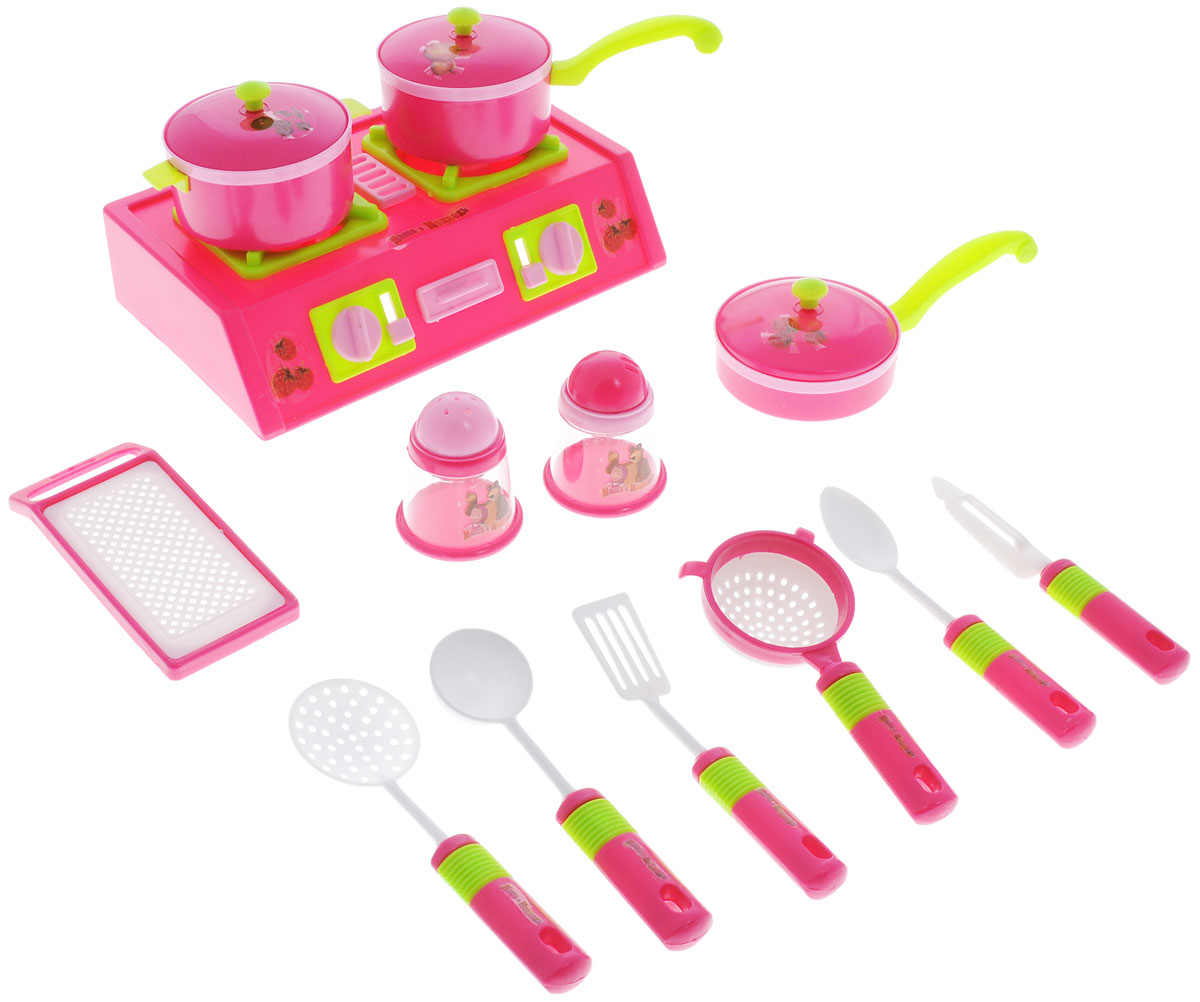 Играем вместе Игровой набор посуды Маша и Медведь 14 предметов