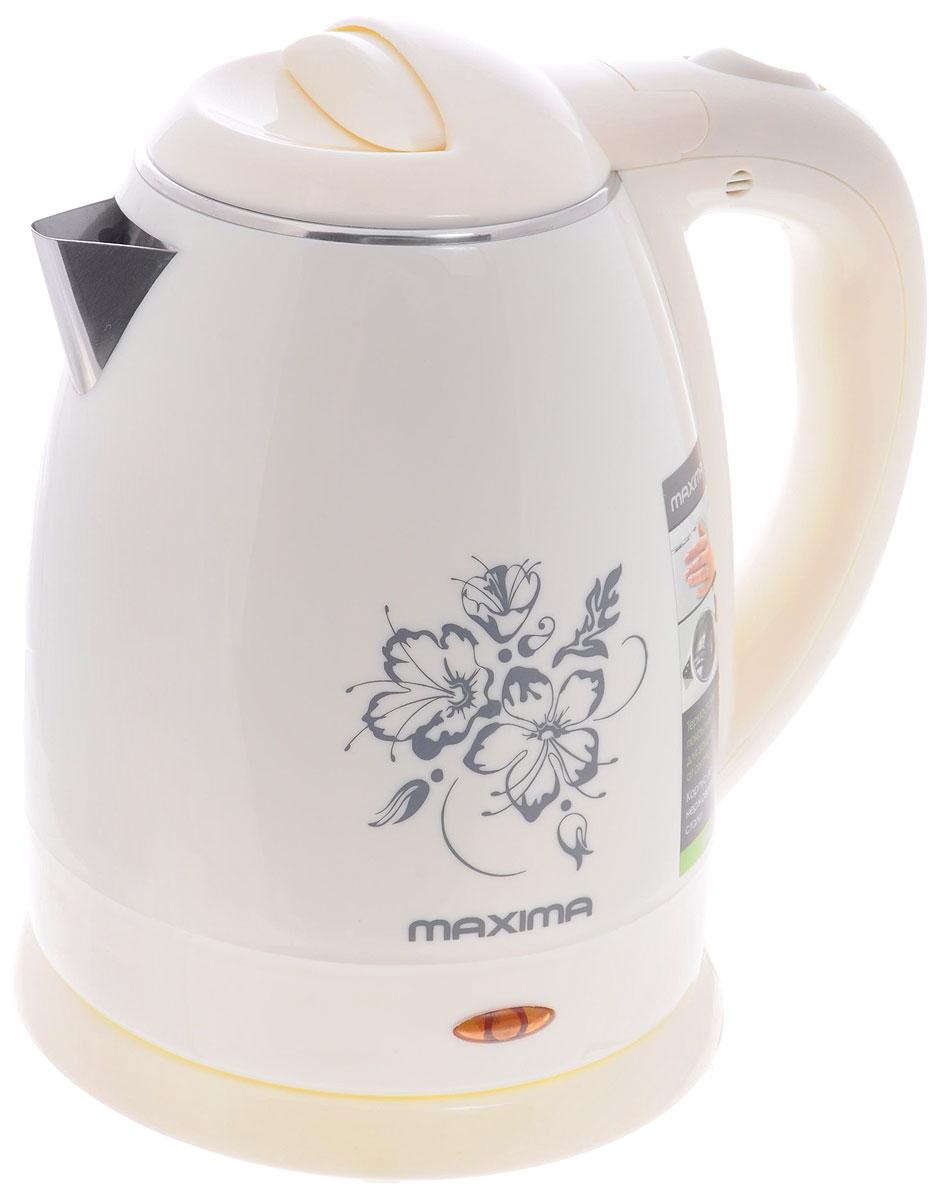 Maxima MK-M421, White электрический чайникMK-M421_WhiteСтильный чайник Maxima MK-M421 позволит быстро вскипятить нужное количество воды. Широко открывающаясякрышка и дисковый нагревательный элемент способствуют для комфортной эксплуатации чайника. Термостойкоепокрытие корпуса защищает от ожога.