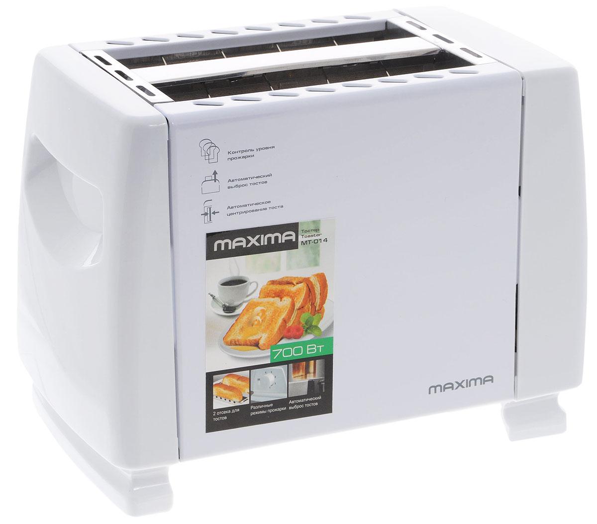 Maxima MT-014, White тостер тостер maxima mt 014