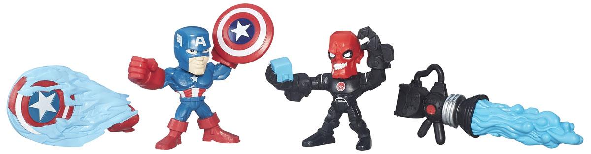 Hero Mashers Набор фигурок Captain America vs Iron Skull hero mashers разборная фигурка a bomb