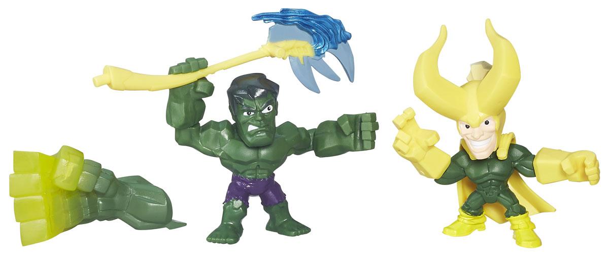 Hero Mashers Набор фигурок Hulk vs Loki hero mashers разборная фигурка a bomb