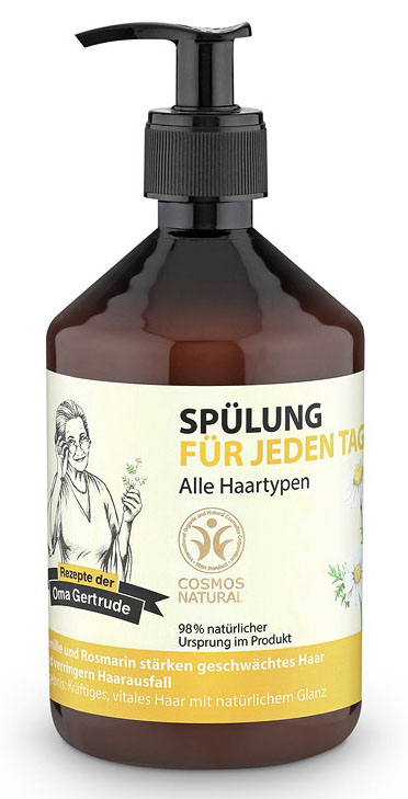 Рецепты бабушки Гертруды Бальзам для волос для ежедневного применения, 500 мл спазган n20 табл