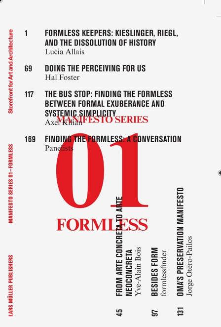 Formless: Storefront for Art and Architecture Manifesto Series 1 the art of not breathing