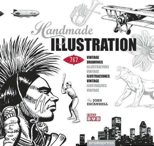 Handmade Illustration: 1,000 Retro-Style Drawings joan escandell handmade illustration 1 000 retro style drawings
