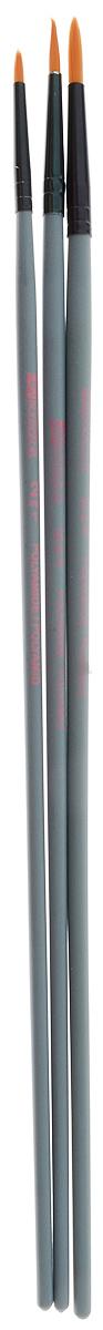 Набор кистей LeFranc Louvre, 3 шт. LF806734LF806734Кисти из набора LeFranc Louvre идеально подойдут для работы с акриловыми красками и прочими искусственными эмульсиями, а также с темперой, гуашью, акварелью и масляными красками. В набор входят кисти Rondes №2, 6 и 10. Кисти изготовлены из синтетической щетины, имеют длинную ручку. Пластиковые ручки оснащены алюминиевыми втулками с двойным обжимом.Длина кистей: Rondes №2 - 27,5 см; №6 - 28,5 см; №10 - 28,8 см.Длина ворса: Rondes №2 - 8 мм, №6 - 1,2 см, №10 - 1,5 см.
