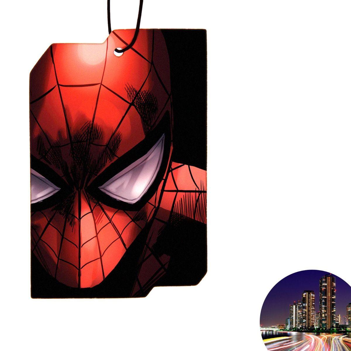 Ароматизатор автомобильный Marvel Spiderman 2. Встречный ветер, 8,9 х 15,9 см1149011Яркость в серые городские будни и скучную езду по пробкам добавит ароматизатор Marvel Spiderman 2. Встречный ветер. В нем сочетаются эксклюзивный дизайн и приятный аромат. Если у вас нет автомобиля - не беда! Повесьте ароматизатор дома или на работе и наслаждайтесь чудесным благоуханием.