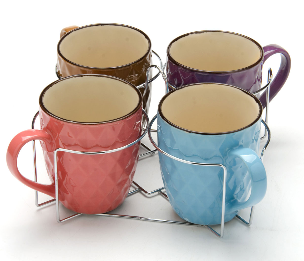 Набор чашек Loraine, на подставке, 390 мл, 5 предметов. 24645 набор кружек loraine coffee 5 предметов