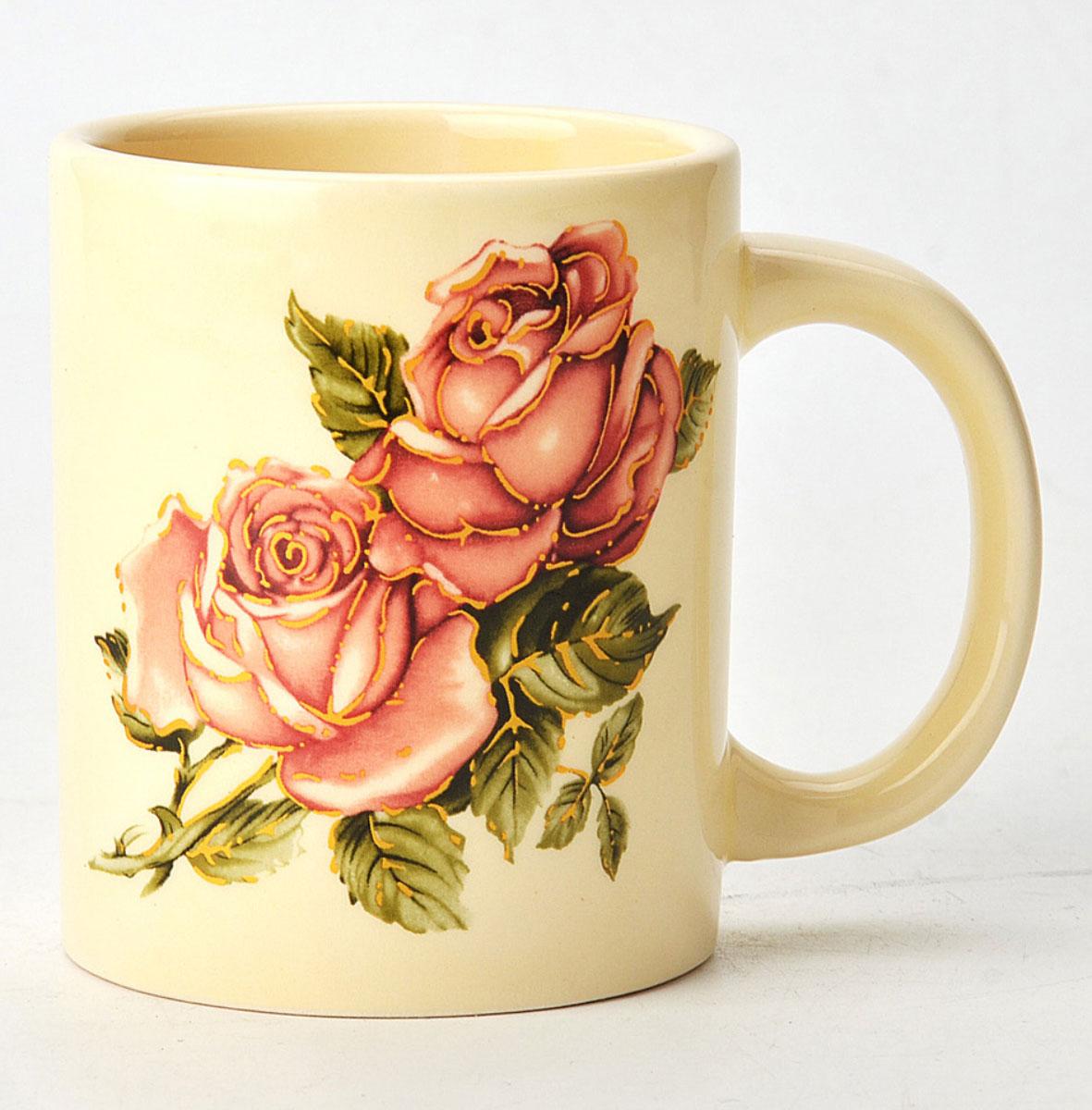 Кружка Loraine Розы, 300 мл. 2168721687Материал: доломит.