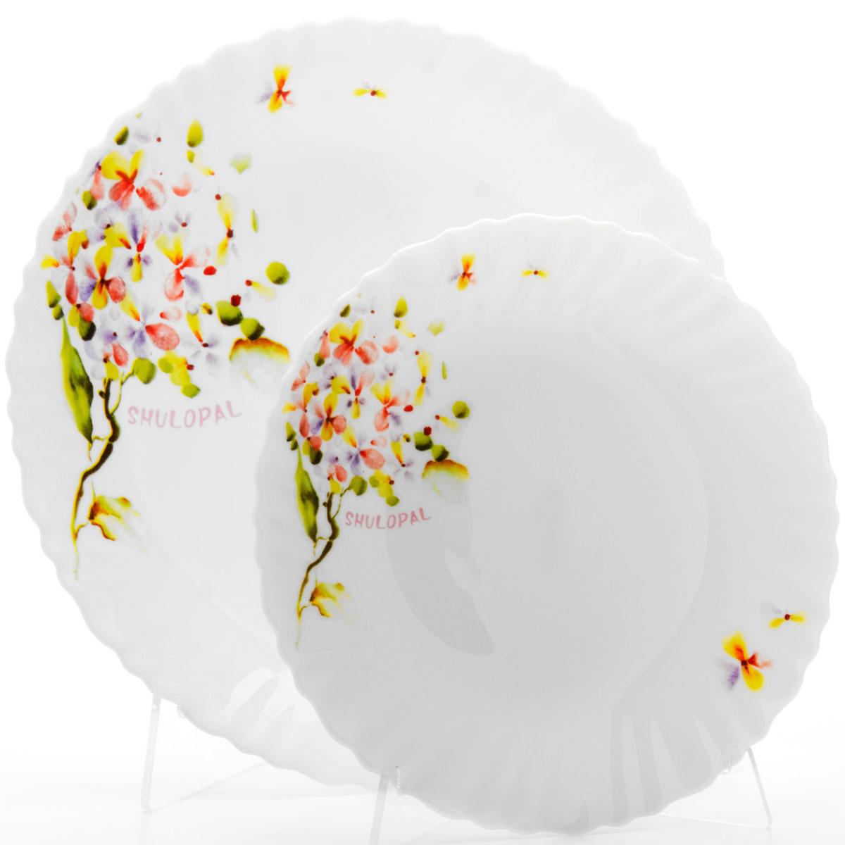 Набор тарелок Loraine, 7 предметов. 2368723687Наш набор тарелок будет прекрасным украшением стола.
