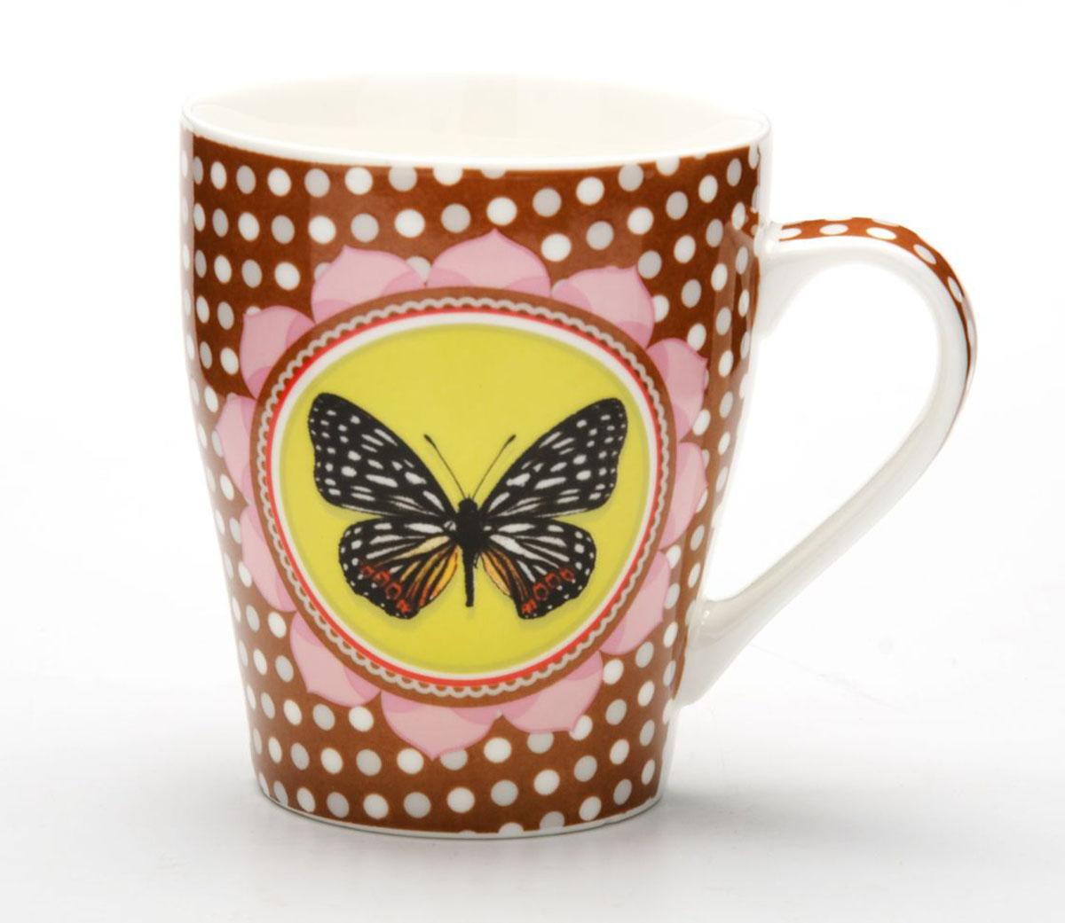 Кружка Loraine Бабочка, 340 мл кружка printio гармония камни и бабочка