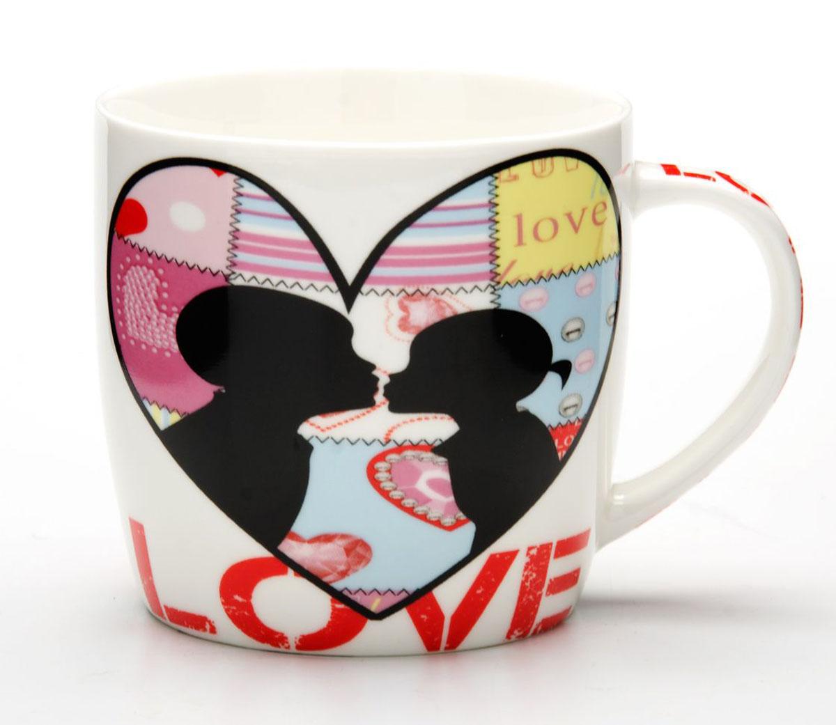 Кружка Loraine I Love You, 340 мл. 24468 носки 3 пары infinity kids для девочки цвет мультиколор