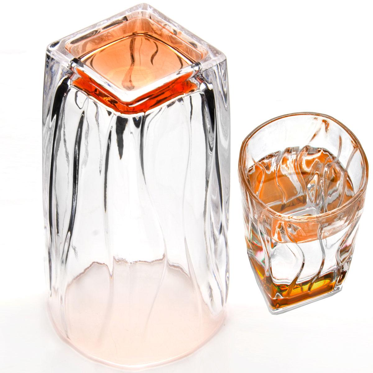 Набор стаканов Loraine, 290 мл, 6 шт. 2407324073Набор Loraine состоит из шести стаканов, выполненных из высококачественного стекла в мягких тонах с оригинальным дизайном. Стаканы предназначены для подачи воды, сока и других напитков. Они излучают приятный блеск и издают мелодичный звон. Такой набор прекрасно оформит праздничный стол и создаст приятную атмосферу за романтическим ужином.Не рекомендуется мыть в посудомоечной машине.Изделия подходят для хранения в холодильнике.Диаметр стакана (по верхнему краю): 7 см.Высота стакана: 12 см.