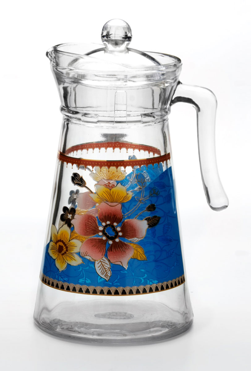 Кувшин Loraine, 1,3 л. 2408724087Стекляный кувшин является неотемлемой частью сервировки вашего стола, напитки в нём будут выглядеть на много эстэтичней.