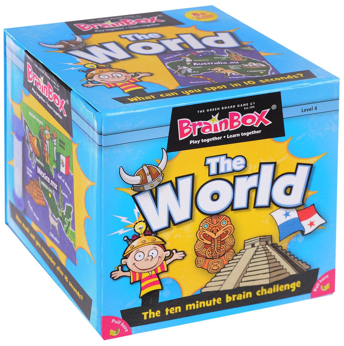 BrainBox Настольная игра Сундучок знаний The World настольные игры brainbox сундучок знаний в мире животных