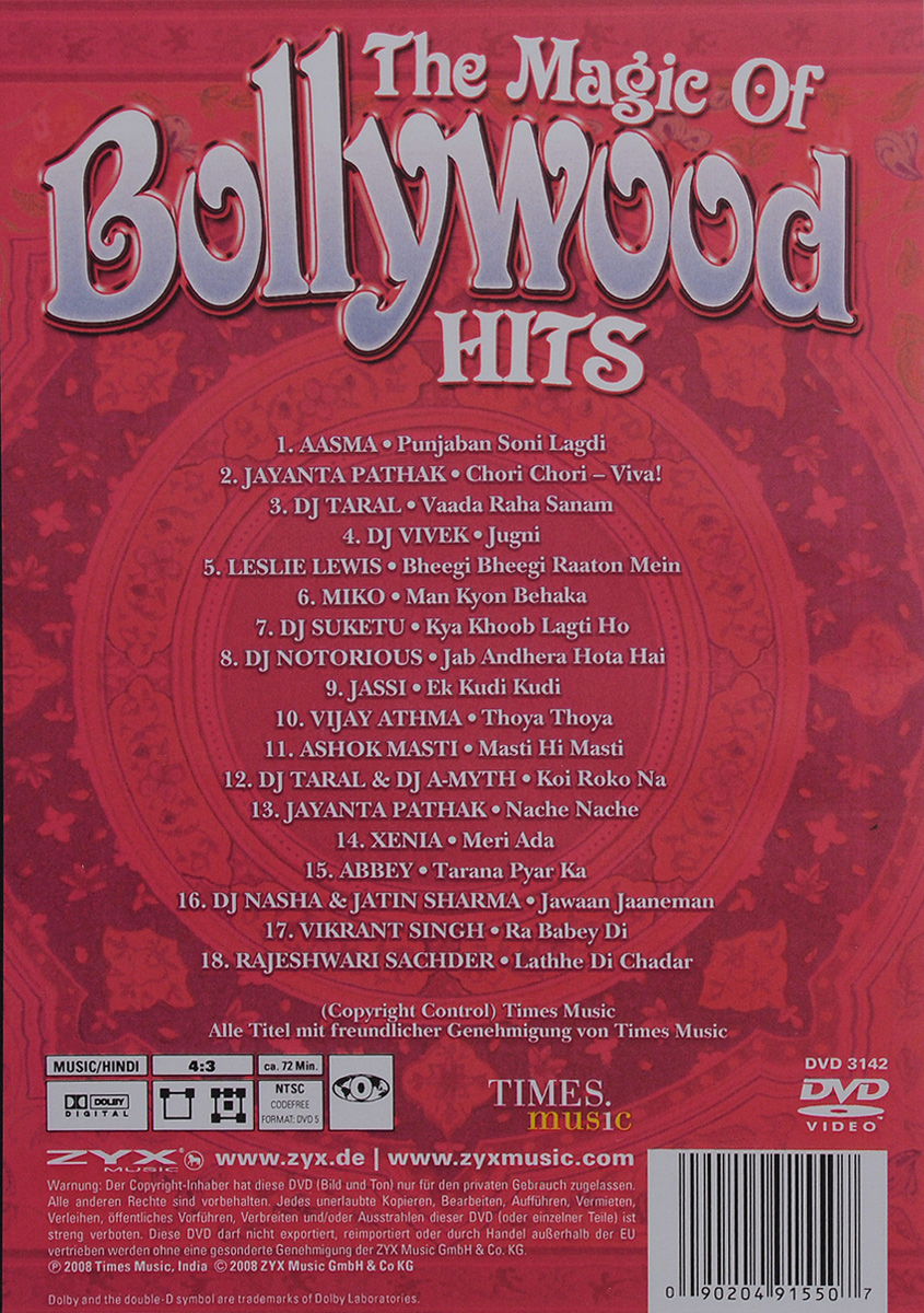 The Magic Of Bollywood Hits ZYX Music