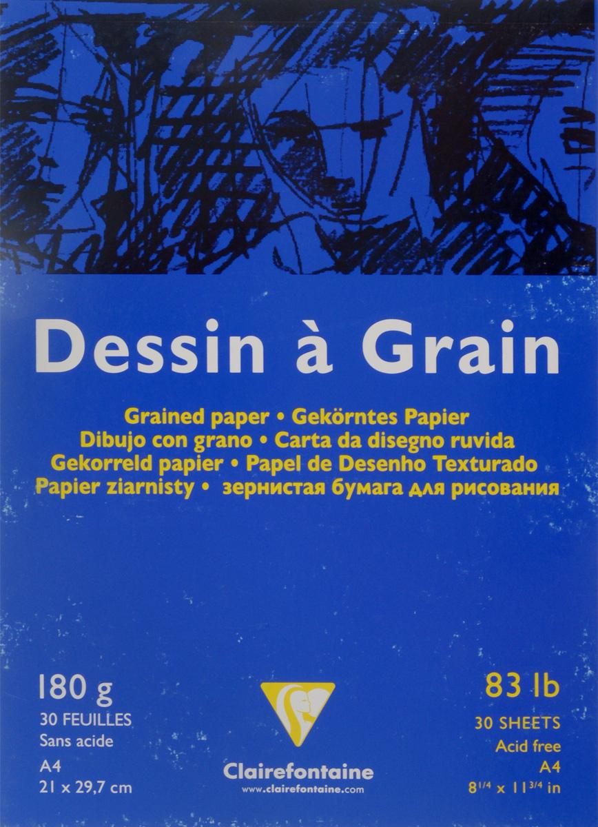 Блокнот для черчения и рисования Clairefontaine Dessin a Grain, 30 листов, формат А4. 9662496624Бескислотная бумага Clairefontaine Dessin a Grain,изготовленная из 100% целлюлозы, предназначена для сухихтехник рисования и черчения карандашом, углем, палочкамисангина и другими. Также может быть использована дляакрила и гуаши, благодаря высокой плотности. Изделияимеют зернистую фактуру. Обложка выполнена измелованного картона с клеевым креплением. Рисование позволяет развивать творческие способности,кроме того, это увлекательный досуг.Размер листа: 21 х 29,7 см.