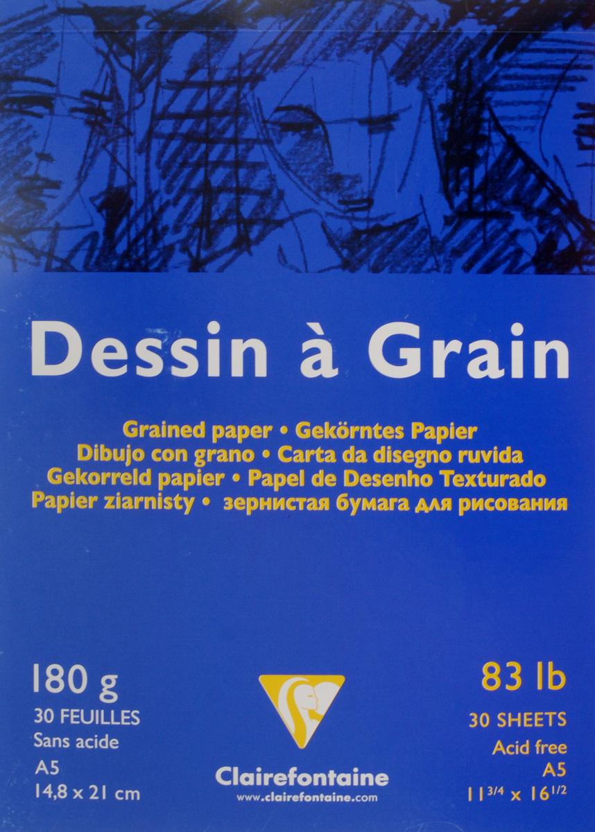 Блокнот для черчения и рисования Clairefontaine Dessin A Grain, 30 листов, формат А5. 9662696626Бескислотная бумага Clairefontaine Dessin A Grain,изготовленная из 100% целлюлозы, предназначена для сухихтехник рисования и черчения карандашом, углем, палочкамисангина и другими. Также может быть использована дляакрила и гуаши, благодаря высокой плотности. Изделияимеют зернистую фактуру. Обложка выполнена измелованного картона с клеевым креплением. Рисование позволяет развивать творческие способности,кроме того, это увлекательный досуг.Размер листа: 14,8 х 21 см.