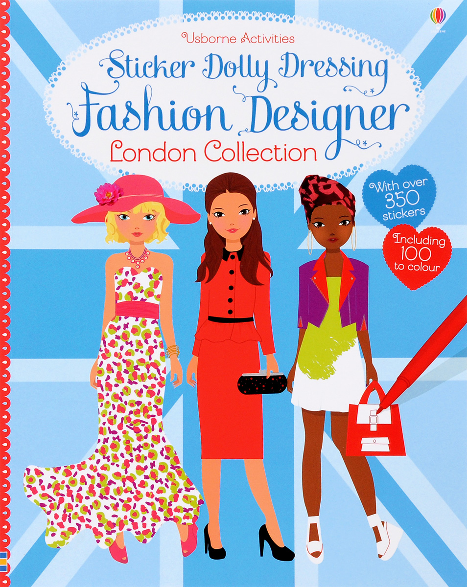Sticker Dolly Dressing Fashion Designer London shapes and colors наклейки
