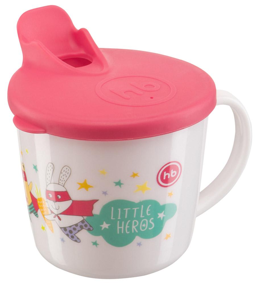 Happy Baby Чашка-поильник от 8 месяцев цвет белый красный стоимость
