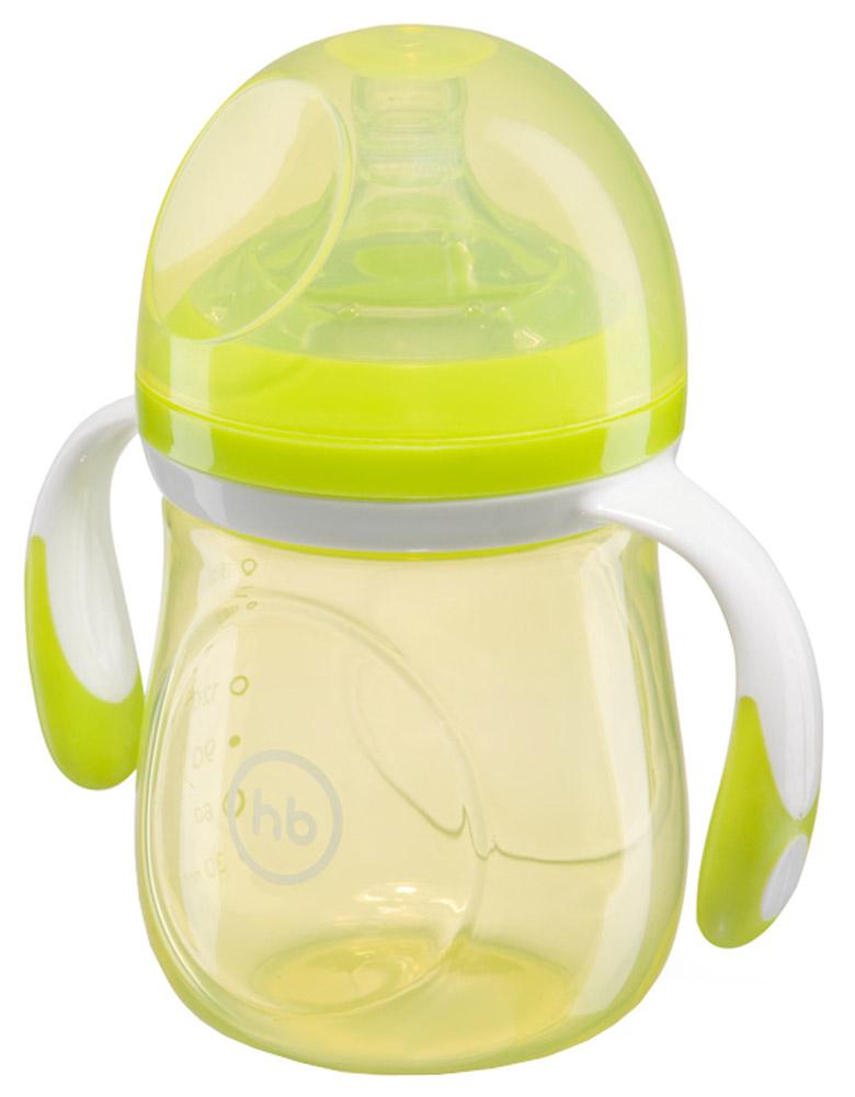 Happy Baby Бутылочка для кормления с антиколиковой силиконовой соской от 0 месяцев цвет салатовый 180 мл