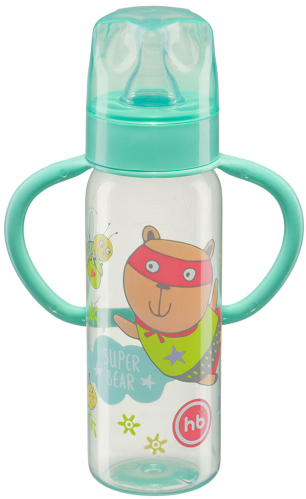 Happy Baby Бутылочка для кормления с силиконовой соской от 0 месяцев цвет бирюзовый 250 мл happy baby бутылочка 250 мл