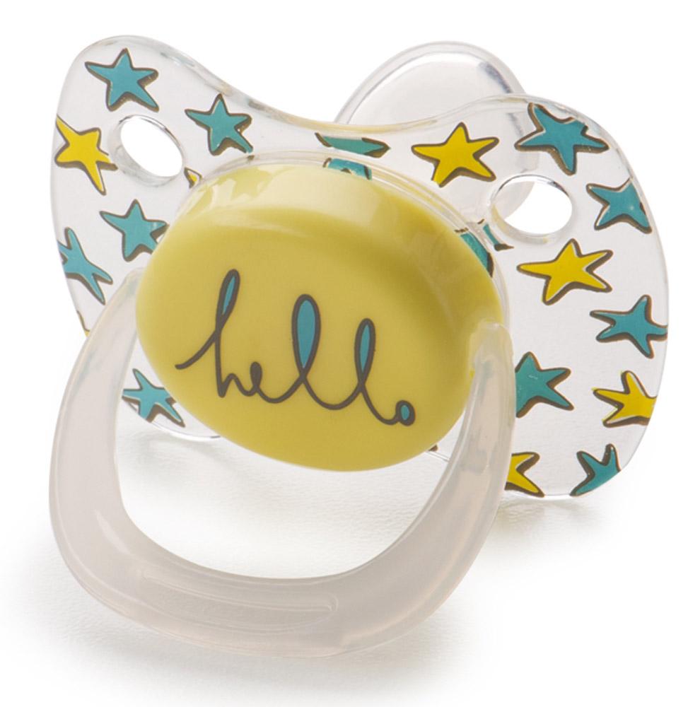 Happy Baby Пустышка силиконовая ортодонтическая от 0 до 12 месяцев цвет желтый пустышка happy baby bimbo с держателем