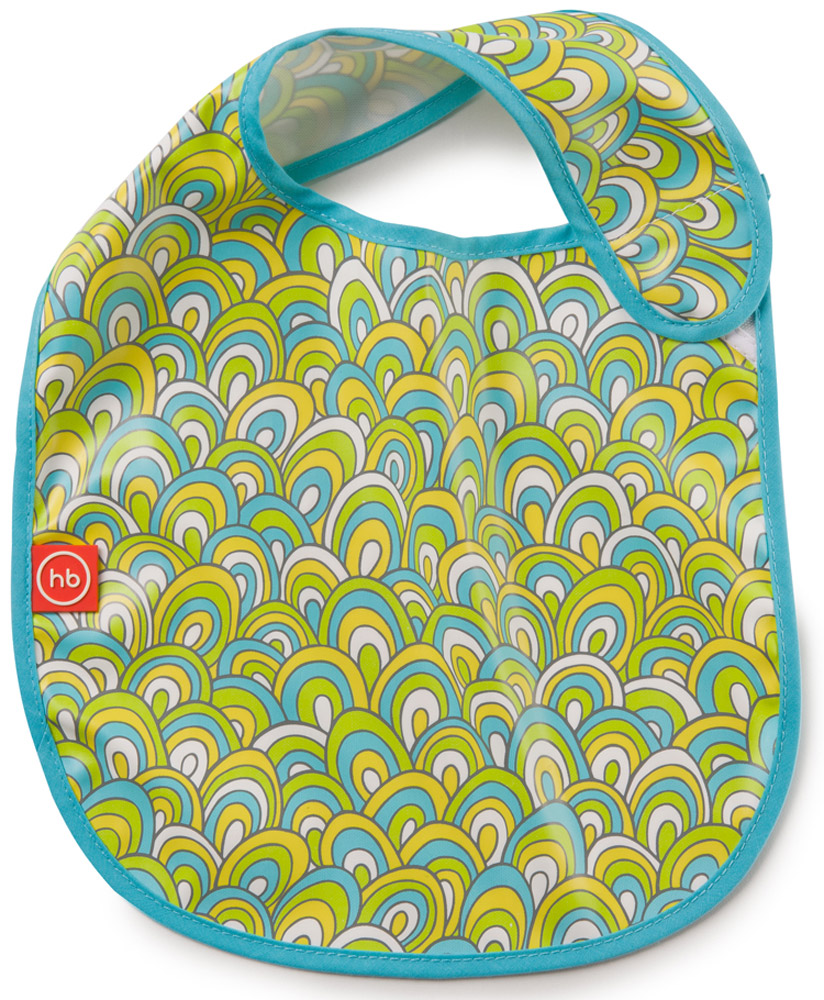 Happy Baby Фартук нагрудный цвет голубой белый желтый happy baby ходунки smiley v2 цвет голубой