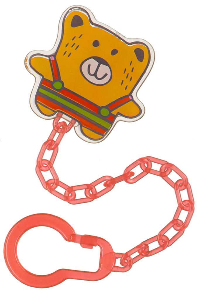 Happy Baby Клипса-держатель для пустышки Мишка