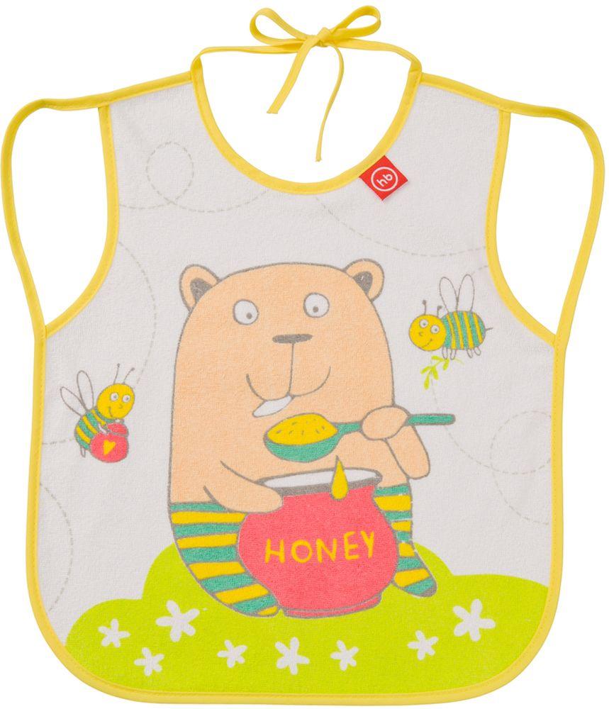 Happy Baby Фартук нагрудный Мишка регулируемый нагрудный фартук с