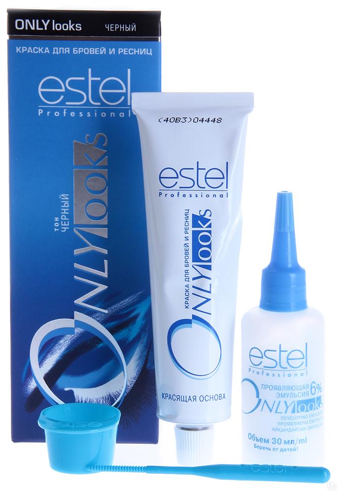Estel Only Looks Краска для бровей и ресниц Тон черный 50 мл + 30 мл601Специальная краска Estel Only looks благоприятна для чувствительной кожи вокруг глаз.Не содержит парфюмерных масел. Имеет мягкую, удобную в обращении консистенцию и нейтральную величину pH.Полученный оттенок держится около 3-4 недель.Одной упаковки краски хватит для многократного использования в течение примерно 1 года.В комплект краски входят:туба с крем-краской, 50 млфлакон с проявляющей эмульсией, 30 млмисочка для краски,лопаточка для размешивания и нанесения,инструкция по применению.