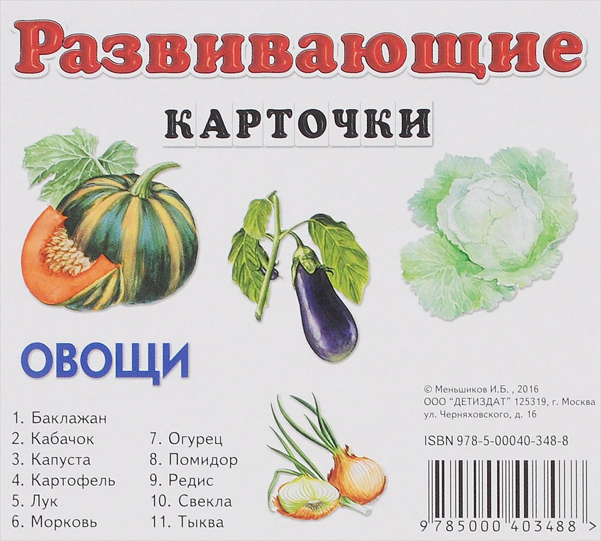 Овощи. Развивающие карточки (набор из 11 карточек)